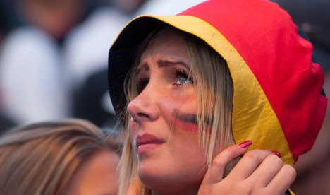 German girl crying