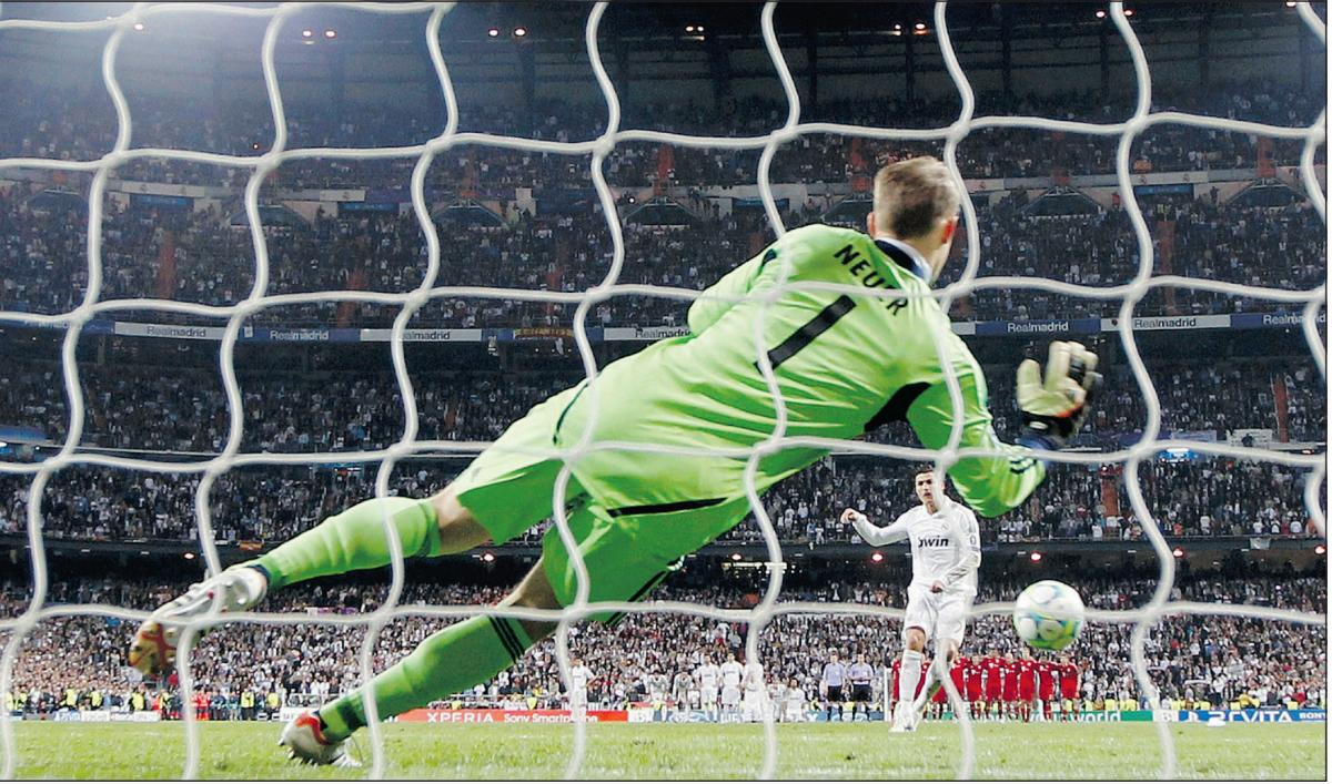 Falk believes he wouldn't stand a chance against Neuer.