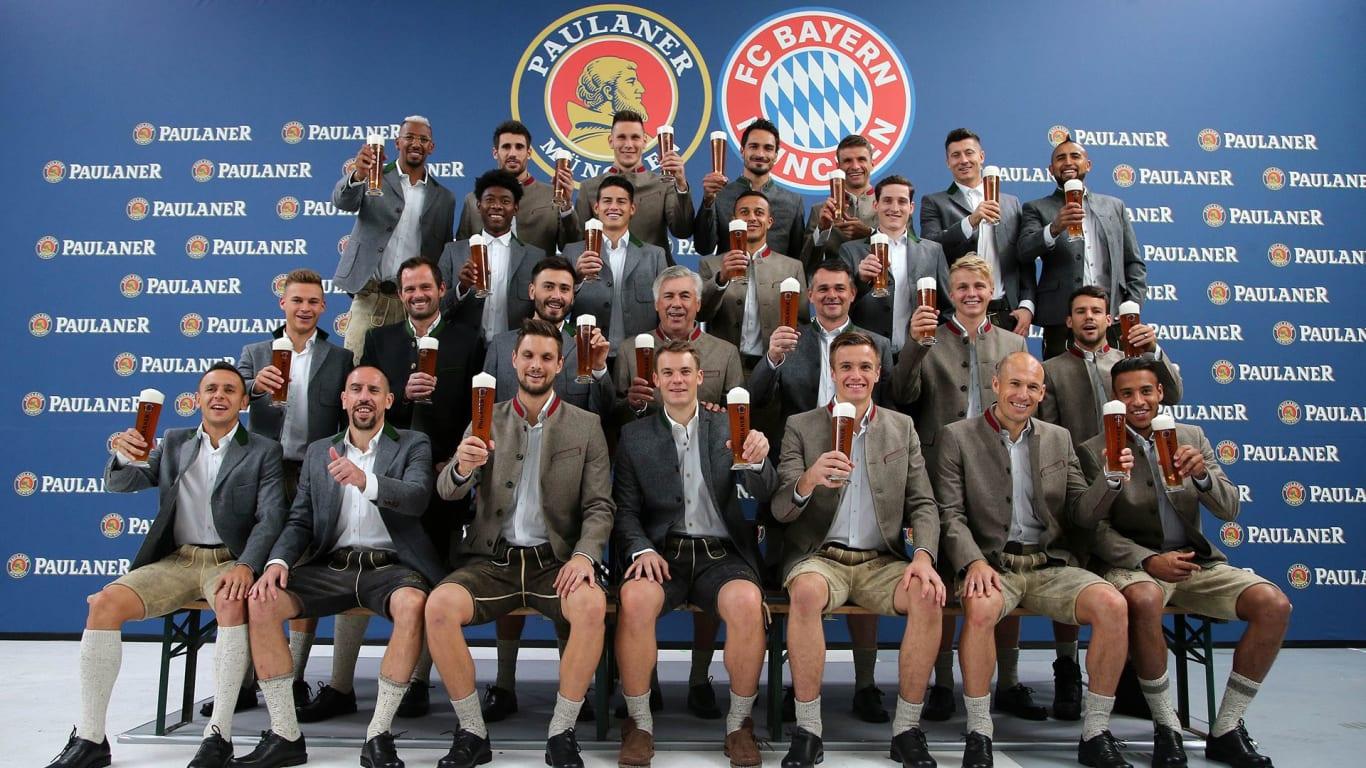 Paulaner at : Bayern FC stars the FCB  photoshoot Official